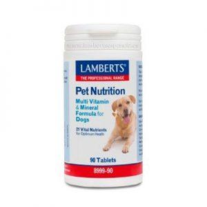 Pet nutrition con multi vitaminas para perros de Lamberts