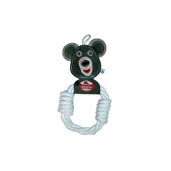 Osito juguete para perro de yute y algodón