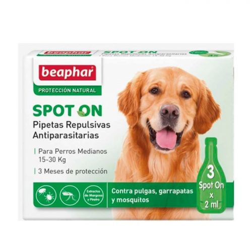Pipetas antiparasitario externo naturales para perros medianos Beaphar
