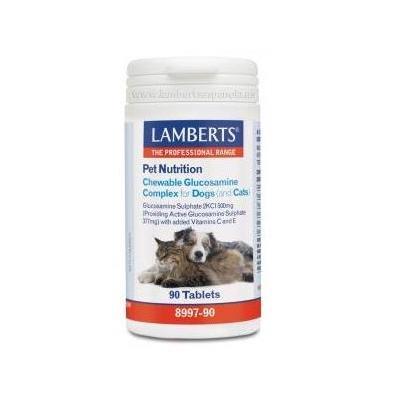 Pet nutrition con glucosamina para perros y gatos de Lamberts