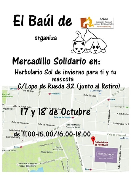 Mercadillo solidario en beneficio de ANAA