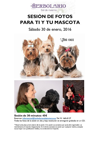 Sesión de fotos para ti y tu mascota