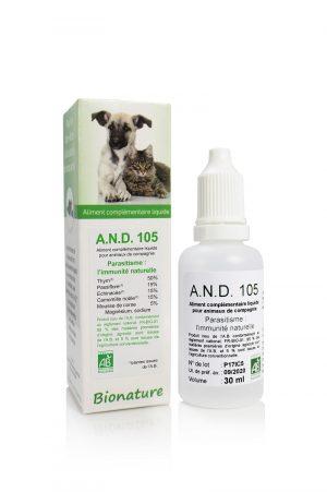 A.N.D. 105-extracto-BIO-antiparasitario