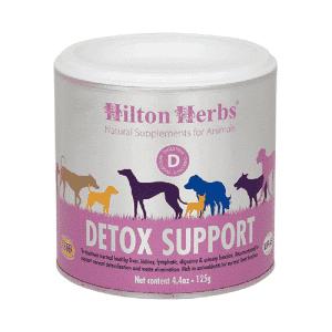 Detox support es un suplemento en polvo para perros que tiene las siguientes propiedades: Ayuda a la función hepática y renal Elimina toxinas
