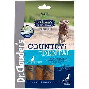 Snack dental de pescado Dr. Clauder 100g Para el cuidado dental diario De cuero crudo de cerdo,sabrosa piel de pescado