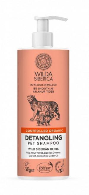 Champú desenredante para perros y gatos no necesita aclarado. Se puede dar sobre el pelo seco. Para pelaje largo y medio.