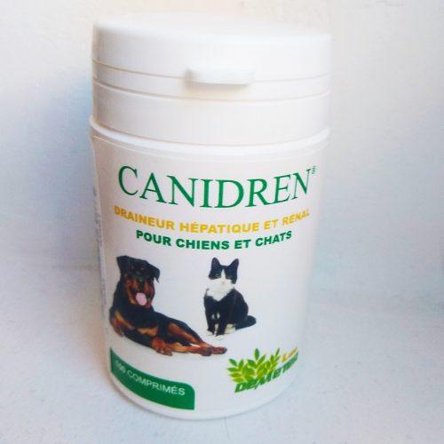 Canidren es un complemento alimenticio compuesto por lespedeza capitata, cardo-alcachofa y rábano negro que actúa de forma sinérgica en los riñones y el hígado.
