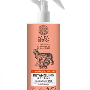 Spray desenredante para perros y gatos no necesita aclarado. Se puede dar sobre el pelo seco. Para pelaje largo y medio. Garantizan un desenredo fácil y delicado. Aplicar una cantidad generosa de spray sobre el pelaje y la piel. Peinar y listo. No aclarar.